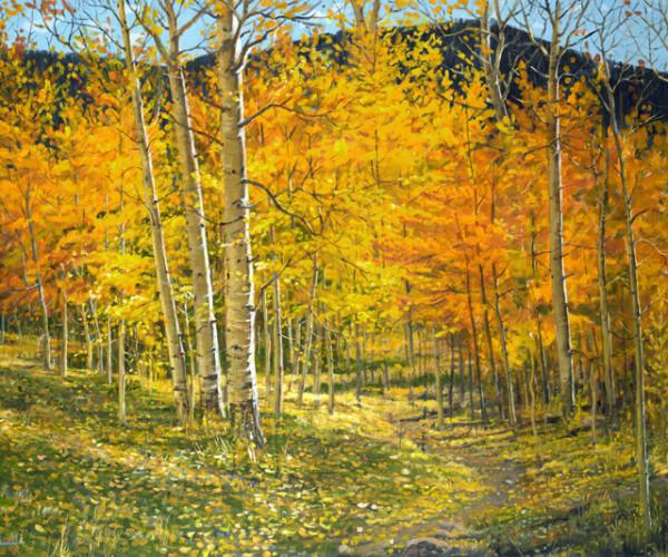 Aspen Leaf Path